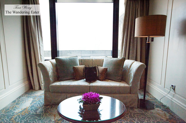 The view of Pudong from the sitting area in the bedroom