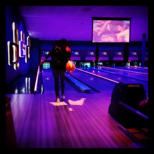 @genmae5 about to bowl a strike at Kings Bowling in Lynnfield Gloucester MA.