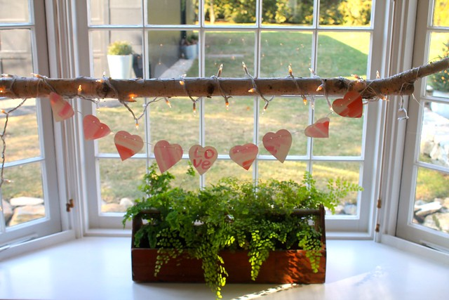 watercolor hearts banner {diy}