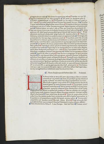Penwork initial in Plinius Secundus, Gaius (Pliny, the Elder): Historia naturalis