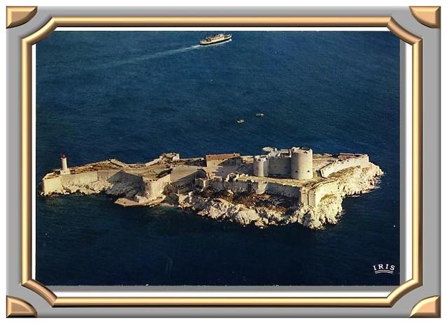 Vue aérienne du château d'If