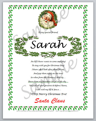 Elf Letter from Santa