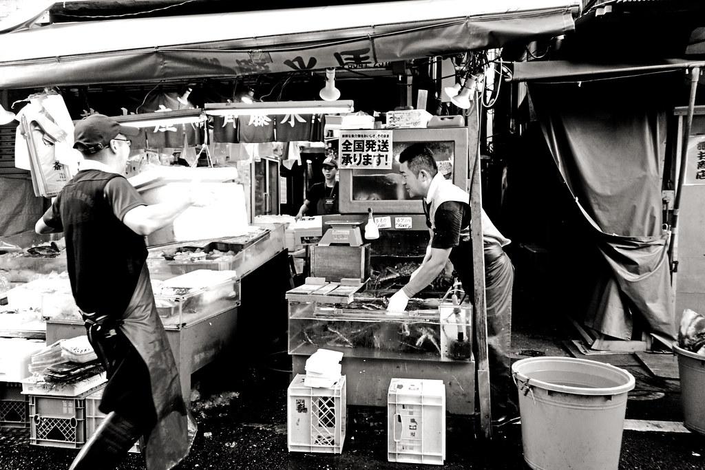 Stall, Tsukiji outer market
