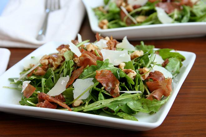 arugula salad figs prosciutto 3