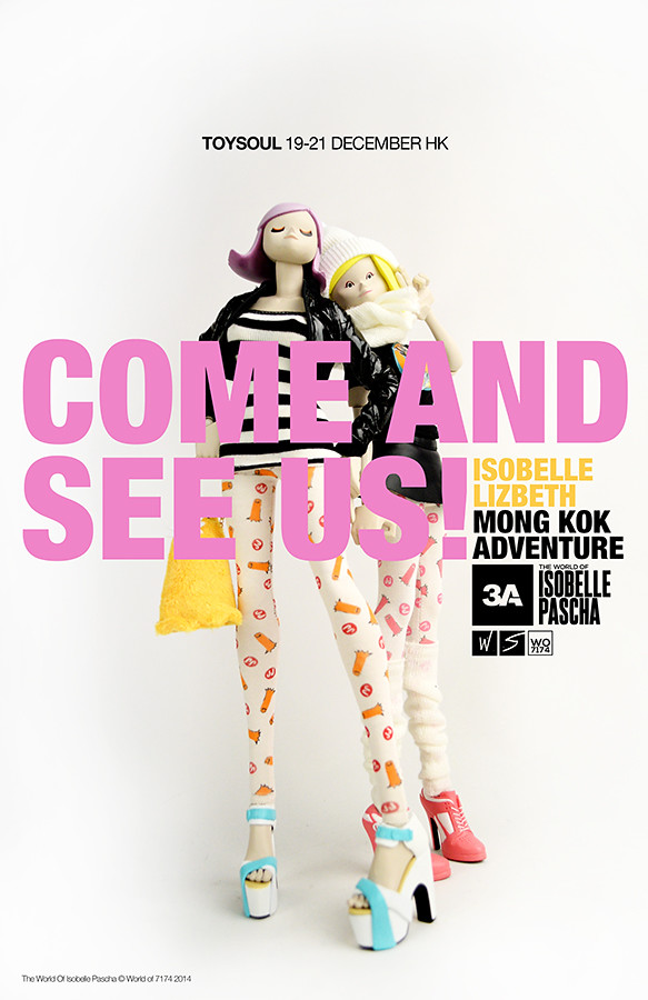 threeA – The World of Isobelle Pascha【Isobelle & Lizbeth】旺角女郎 TOYSOUL 限定販售