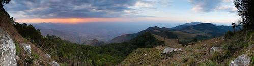 africa sunset panorama terrain sun mountain nature weather scenery dusk hill malawi overlook zomba