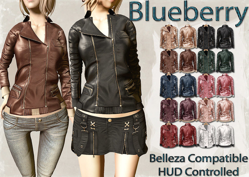 Blueberry Mins Leather Jackets