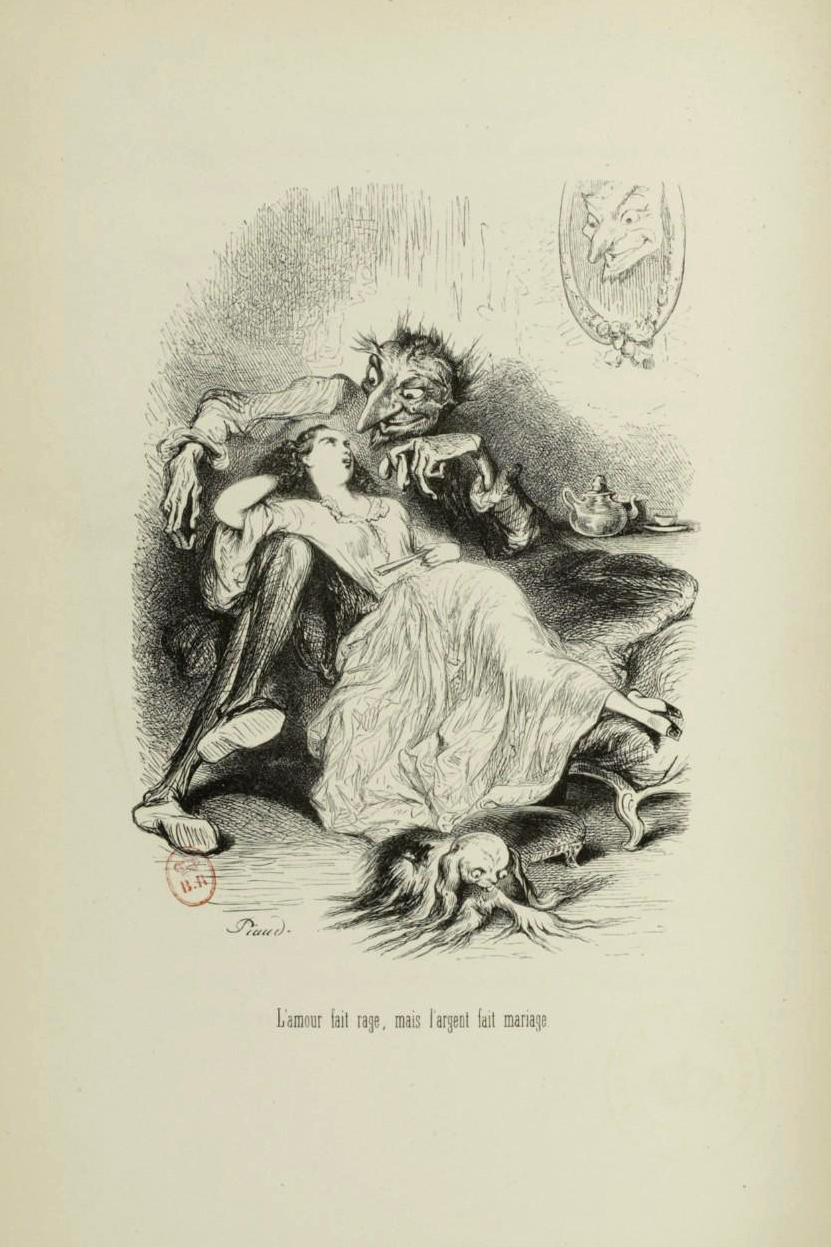 "Tony Johannot - Illustration for ""Voyage où il vous plaira"" by Musset and Stahl (1843) 14"