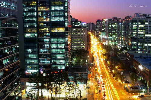 life road street city longexposure travel light sunset sunlight color building architecture colorful asia traffic vivid korea explore korean transportation seoul southkorea exploration