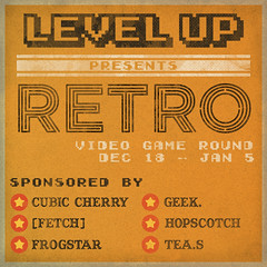 Level Up Retro Poster