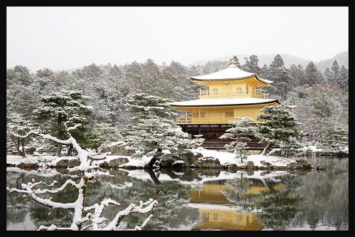 日本京都-金閣寺-雪.45