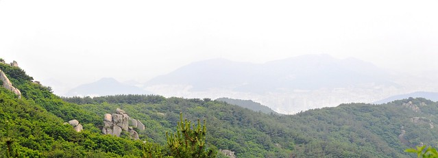 Geumjeongsan mountain and city panorama