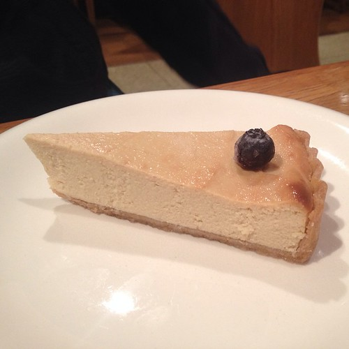 Lemon tofu vegan cheesecake at Green Cafe in Osaka