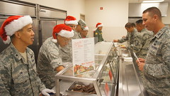 Hawaii Air National Guard dining facility holds its traditional holiday meal.