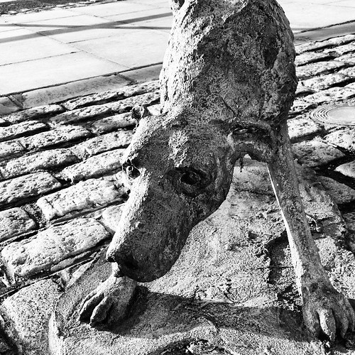 The Famine Dog... playful or starving and ready to attack? In 2014 - the people of Austerity in Ireland are fighting back. Angry about water charges, angry about banks not having to repay the government, angry about medical cutbacks, rising rents, and 700