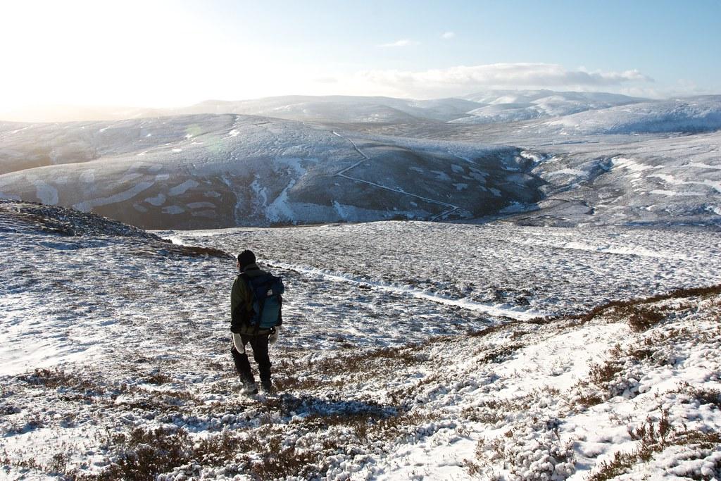 Descending to Glen Ernan