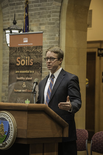 U.S. Department of Agriculture (USDA) Natural Resources Conservation Service (NRCS) Chief Jason Weller at the celebration of the International Year of Soils event at USDA headquarters in Washington, D.C. USDA photo by Bob Nichols.