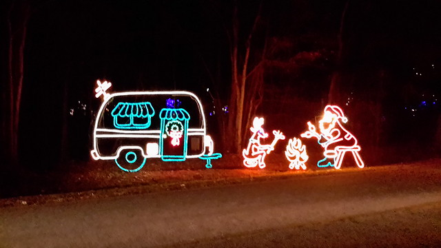 One of the light displays at the Holiday Festival of Lights on James Island