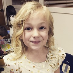 #beauty ... All ready for her Christmas program at school. She's excited and nervous. #trinitylutheran #prek