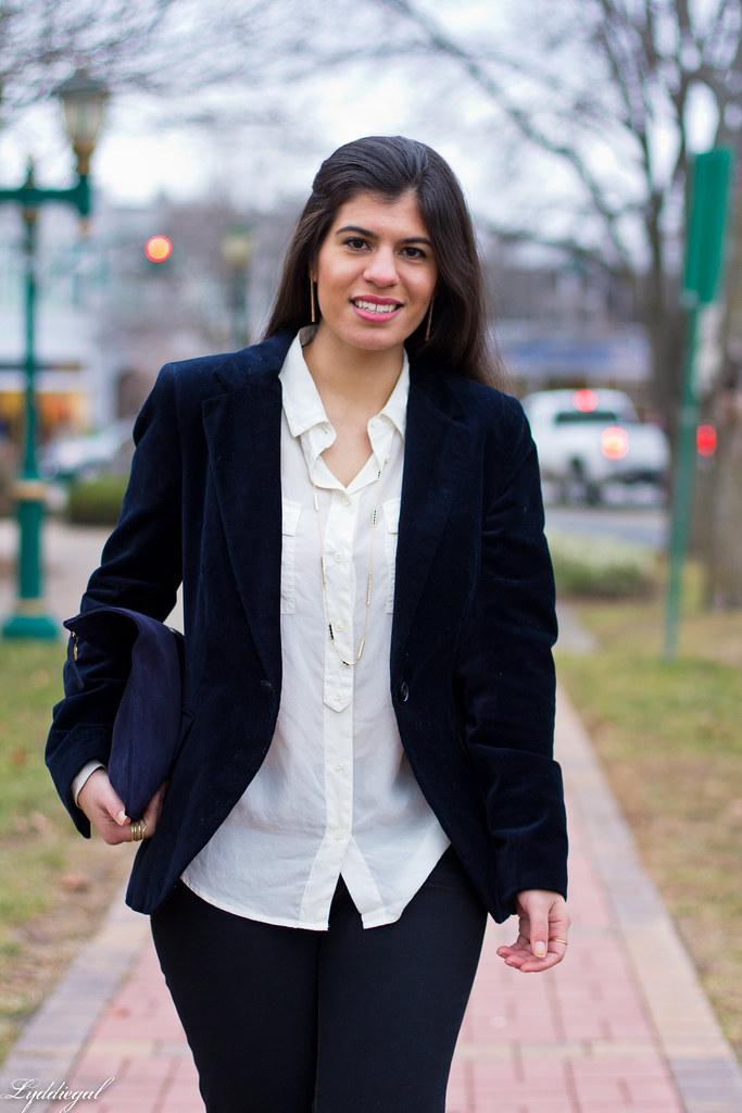 velvet blazer, flared jeans, white blouse-4.jpg