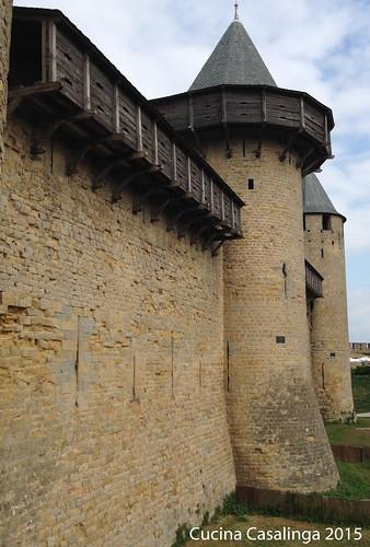 Carcassonne Burg Mauer