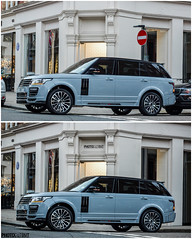 Here\'s the before and after of the Mansory Range Rover