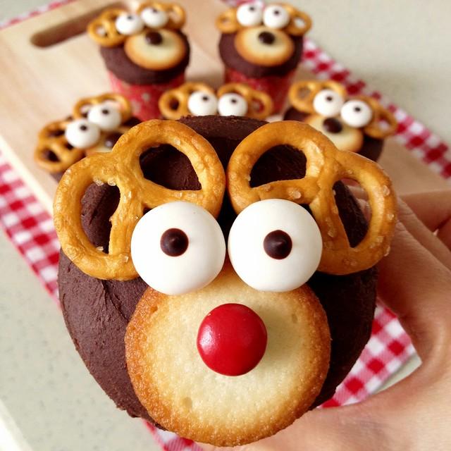 Reindeer Chocolate Cupcakes