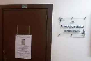 Noicattaro. Aula intitolata a Francesca Acito front