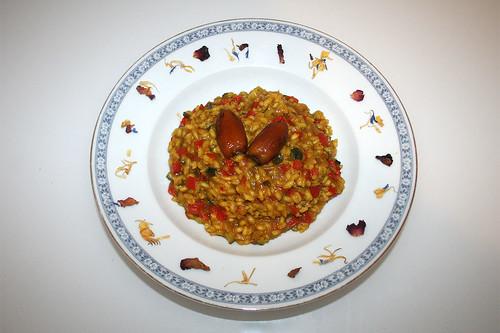 42 - Date saffron risotto - Served / Dattel-Safran-Risotto - Serviert