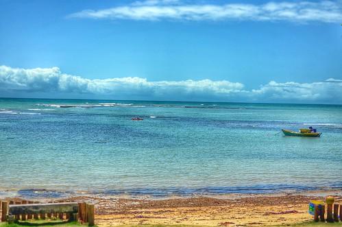 sea brazil beach nature brasil clouds landscape paradise sua portoseguro