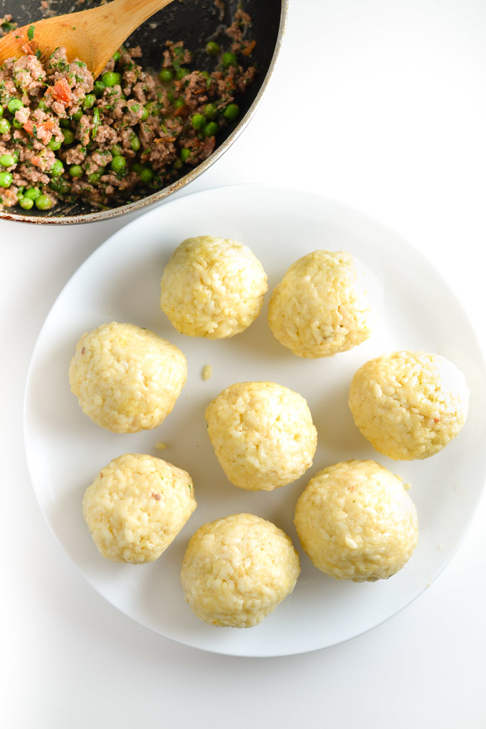 how to make italian rice balls with filling