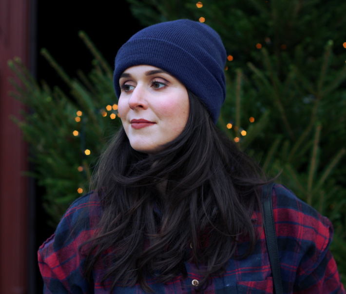 plaid shirt, beanies