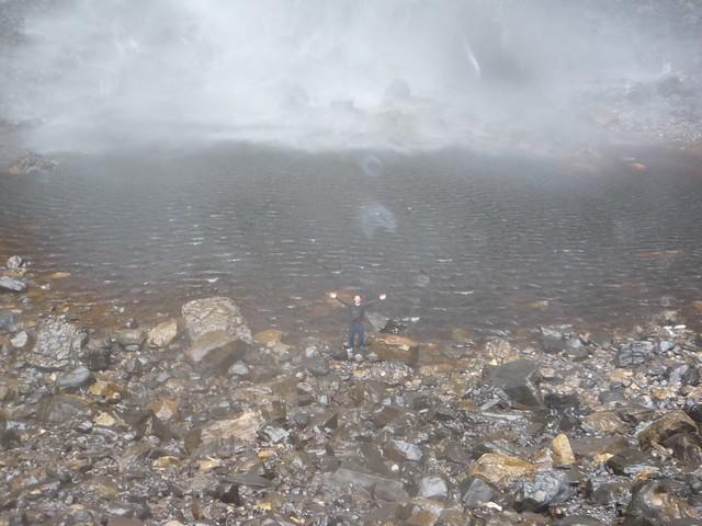 Kurt at the base of Gocta