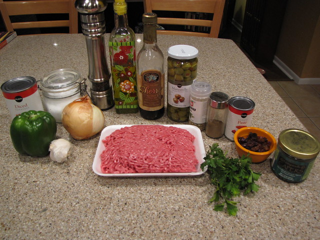 Picadillo Ingredients