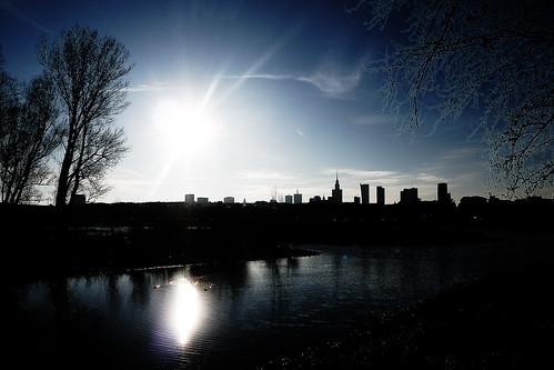 city light sunset sky sun sunlight reflection sunshine sunrise river landscape lumix glow cityscape space poland polska panasonic unreal sunbeams reflects skyskape subeams panasonicg5