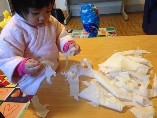 第二天玩抽取式衛生紙,災情大幅減輕