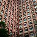 Pixelated tower #mittaltower #bangalore #pixel #ac #windows #oldskyscraper #pink #india #architecture #architectureporn
