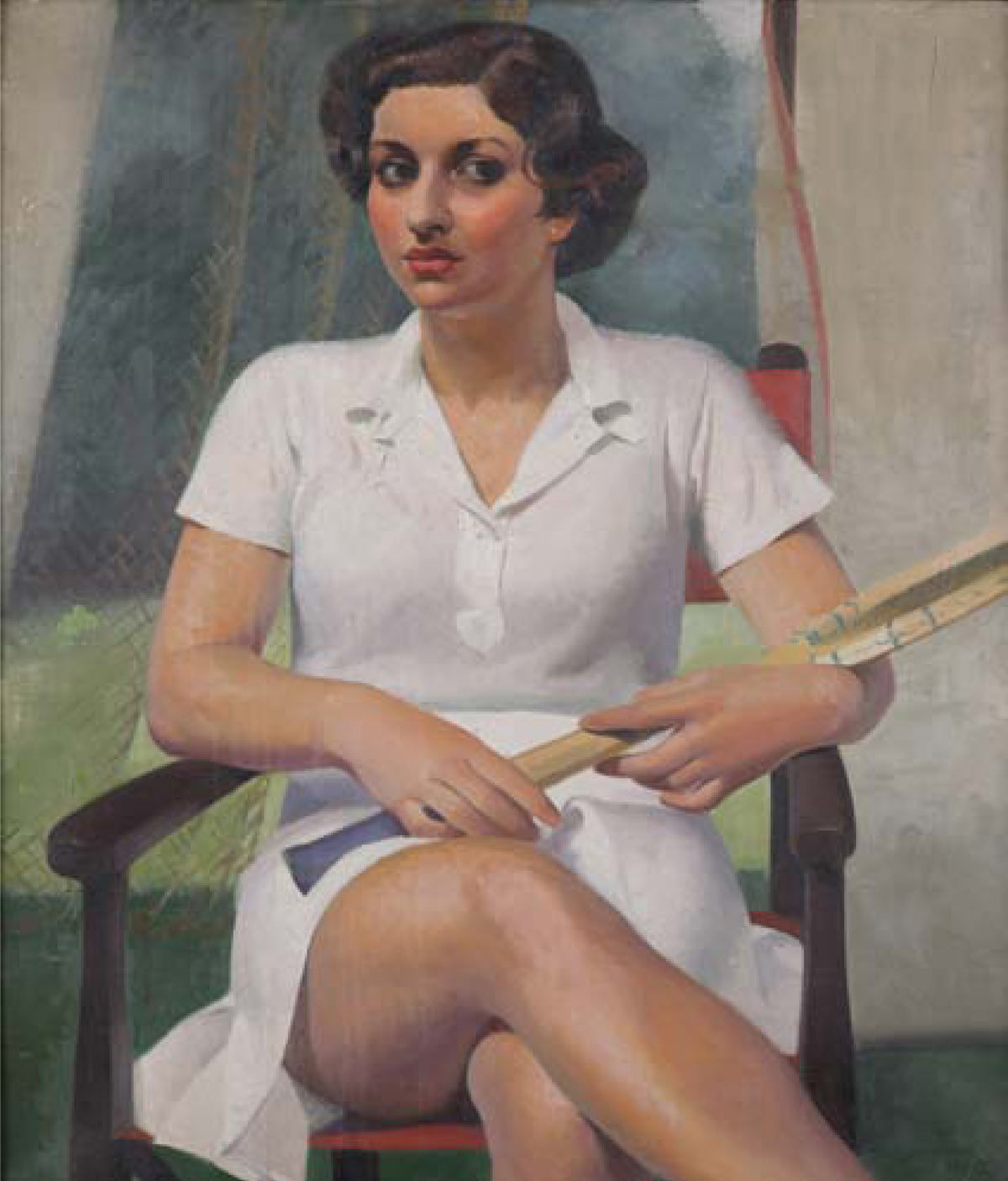 The Tennis Player by Percy Shakespeare (English, 1906 - 1943)