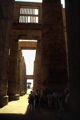 Ägypten 1999 (334) Karnak-Tempel: Großer Säulensaal im Tempel des Amun-Re