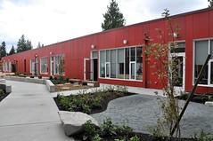Exterior Shot:  Kindergarten & Early Learning Classroom Block, Courtyard
