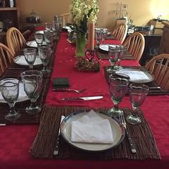 Dinner table:white_check_mark: