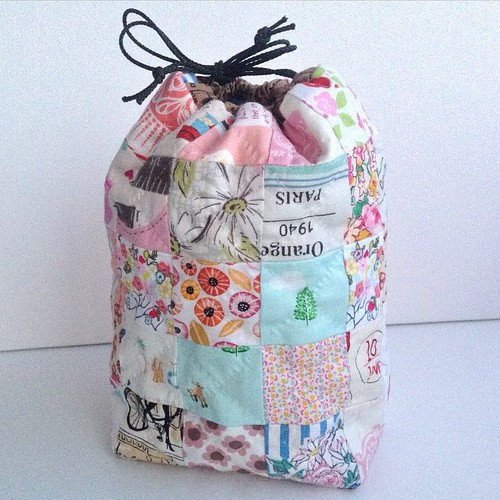 #KinChaKu Draw string bag pattern by Chase @quarterinchmark ��I will be making more of these as it's an easy to follow pattern and very cute. #scraptastictuesday