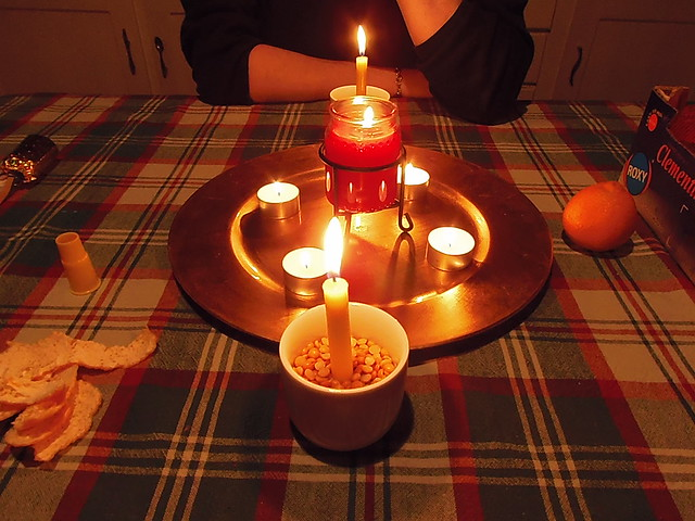Solstice ritual table