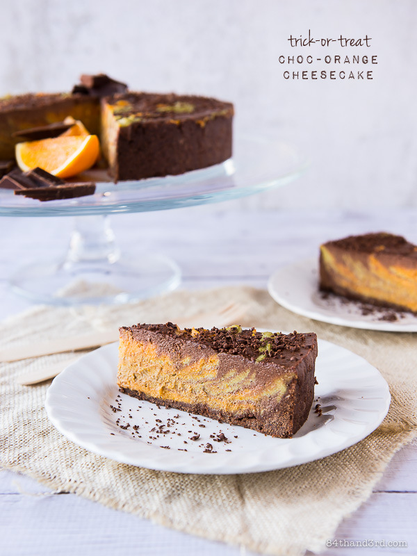 Vegan Choc-Orange Cheesecake