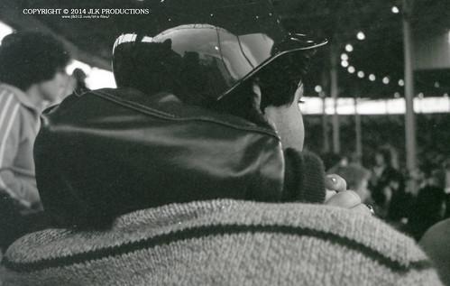 Tri-X Files 84_29.08a: Cuddling in Cardinal Stadium