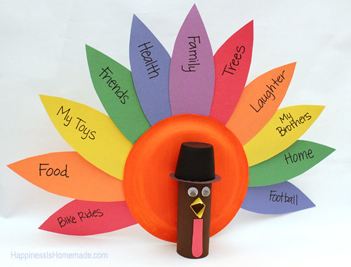 Gratitude Turkeys (Photo from Happiness is Homemade)
