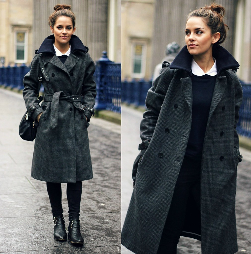 Gant Rugger grey check wool coat 12