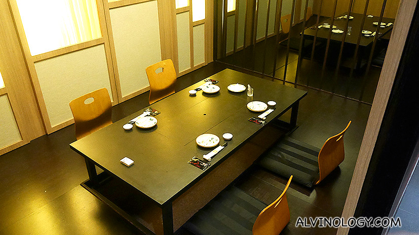 One of the two private rooms in SHIMA