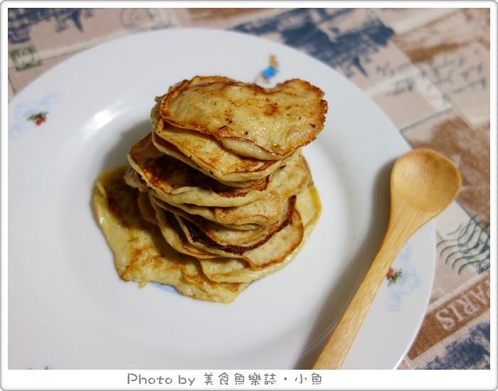 超簡單香蕉鬆餅DIY食譜 @魚樂分享誌