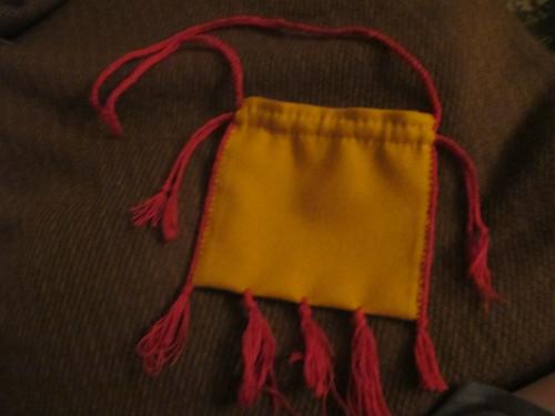 Medieval textile purse - 29